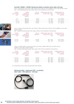 Semoflex® H05BQ-F / H07BQ-F Spirálované kabely se zástrčkou