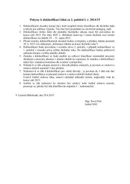 Informace - SOU Lázně Bělohrad