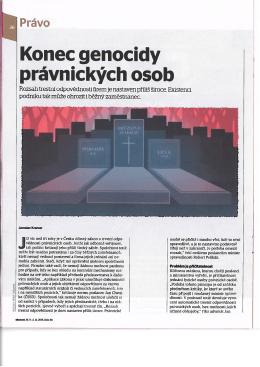 Konec genocidy právnických osob - Advokátní kancelář Dáňa, Pergl