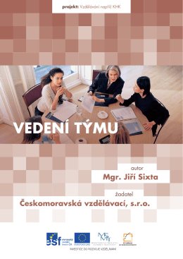 VEDENÍ TÝMU - Českomoravská vzdělávací sro