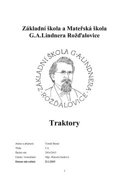 AP -Tomáš Beneš - Základní škola a Mateřská škola Rožďalovice