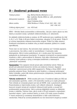 D – Zesilovač pokusná verze - Střední škola automobilní a informatiky