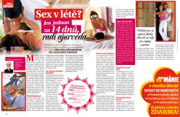 Blesk ZDRAVÍ , článek Ájurvéda a sex, 8/2013