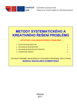 metody systematického a kreativního řešení problémů