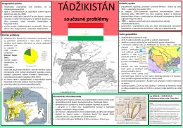 Tádžikistán: současné problémy (2014)