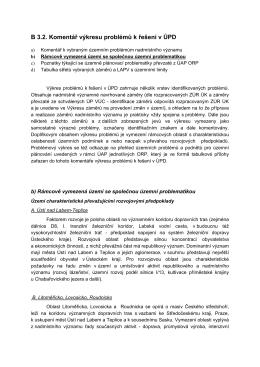 B 3.2. Komentář výkresu problémů k řešení v ÚPD