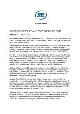 Výsledky holdingu ZVVZ za r.2014