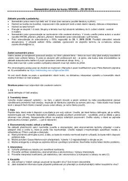 Semestrální práce ke kurzu 5EN306 – ZS 2015/16