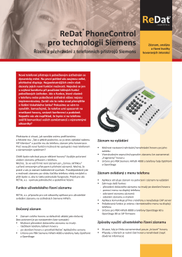 ReDat PhoneControl pro technologii Siemens