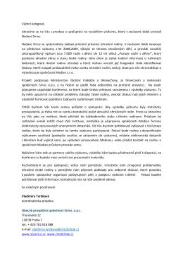 Dopis - první výzva ke spolupráci organizace295.39 KB