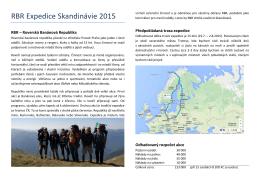 RBR Expedice Skandinávie 2015