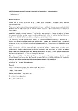 Základní škola a Střední škola informatiky a ekonomie Jánosa
