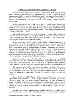Projev Václava Klause čtěte zde
