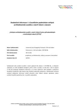 Dodatečné informace_1 - Univerzita Jana Evangelisty Purkyně v