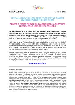 TISKOVÁ ZPRÁVA 6. února 2014 FESTIVAL