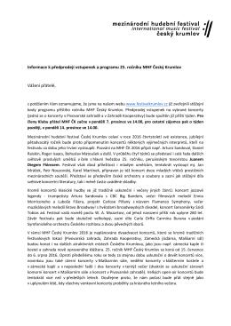 Newsletter prosinec 2015 - Mezinárodní hudební festival Český
