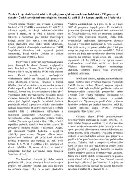 Zápis z 9. výroční členské schůze Skupiny pro výzkum a