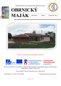 červenec - Obrnické centrum sociálních služeb, příspěvková
