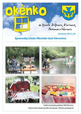(červenec 2015)(PDF: 662.32 kB) - Městská část Vávrovice