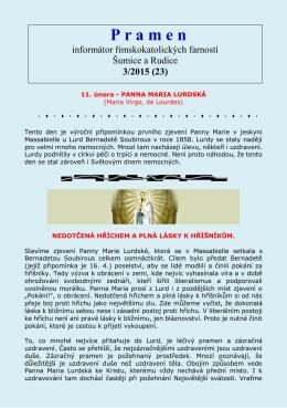 P r a m e n - Římskokatolická farnost Šumice