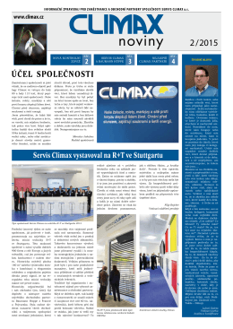 č. 2/2015 - SERVIS CLIMAX, as
