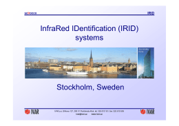 InfraRed IDentification (IRID) systems Stockholm, Sweden