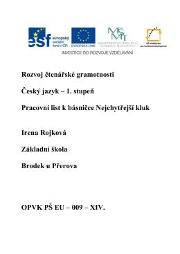 09_cesky_jazyk - Základní škola Brodek u Přerova