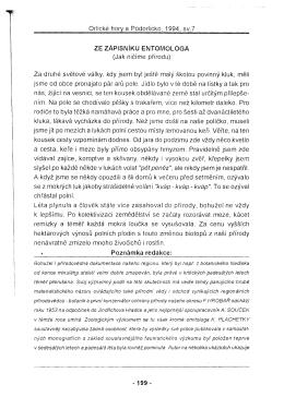 Orlické hory a Podorlicko, 1994, sV.7 ZE ZÁPISNíKU