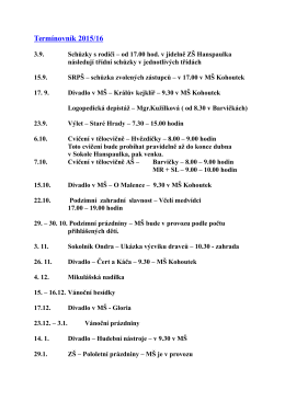 Termínovník 2015/16
