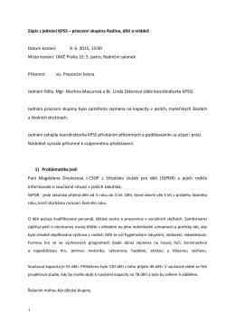 Zápis z jednání PS RDM ze dne 8. 6. 2015 KV