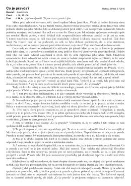 Co je pravda - výročí 600 let od upálení M.J.Husa