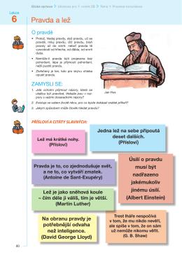 Lekce PRAVDA a LEŽ učebnice – PDF