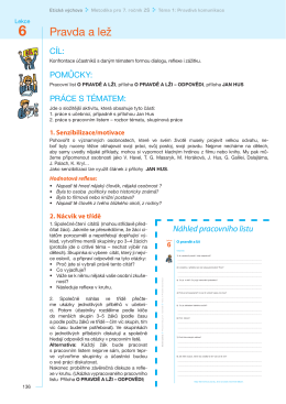 Lekce PRAVDA a LEŽ metodika – PDF