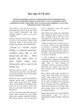report přednášky prof. halíka