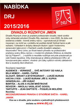 NABÍDKA DRJ 2015/2016 - Divadlo Různých Jmen