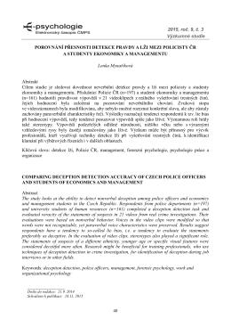 2015, roč. 9, č. 3 Výzkumné studie POROVNÁNÍ - E