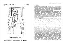 Srpen – září 2015 č. 145 Informační leták Kněžského