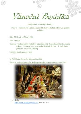 (benjamínci, světlušky i skautky) Přijď si s námi oslavit Vánoce