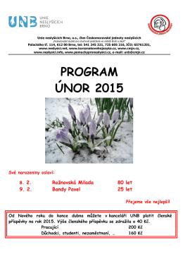 PROGRAM ÚNOR 2015 - Unie neslyšících Brno
