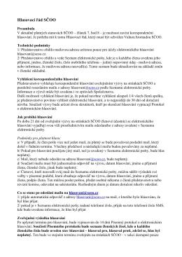 7 Návrh řádu pro elektronické hlasování