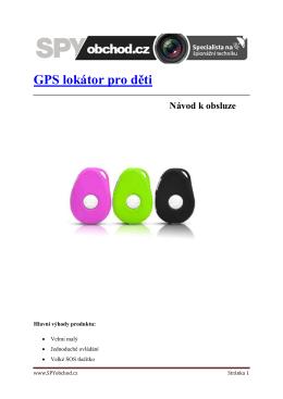 Návod k obsluze - GPS lokátor pro děti