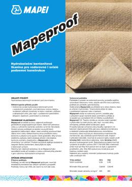 Hydroizolační bentonitová tkanina pro vodorovné i svislé