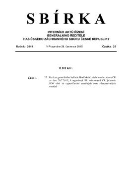 Rozkaz GŘ HZS ČR č. 25/2015