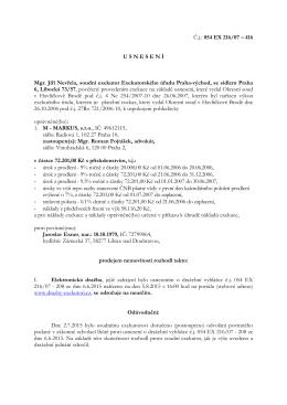 Usnesení o odročení elektronické dražby
