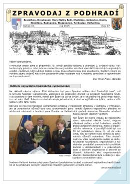 Zpravodaj z podhradí č. 27 - r. 2015
