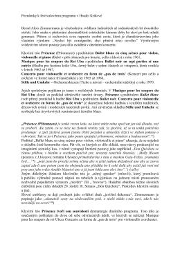 Poznámky k festivalovému programu v Hradci - Jan