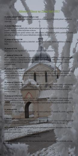 Advent a Vánoce na Zelené hoře 2015