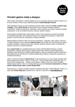 FDF2_tiskova_zprava - Fashion&Design Festival