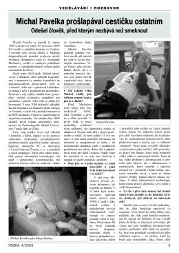 Článek o Michalu Pavelkovi