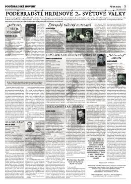 Poděbradští hrdinové 2. světové války